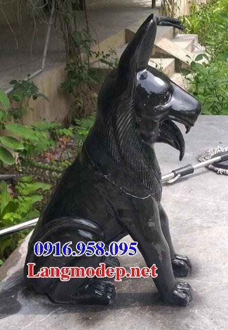 Mẫu chó tư gia từ đường đình đền chùa miếu bằng đá thiết kế hiện đại tại Ninh Bình