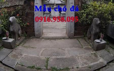 Mẫu chó tư gia từ đường đình đền chùa miếu bằng đá thi công lắp đặt tại Bà Rịa Vũng Tàu