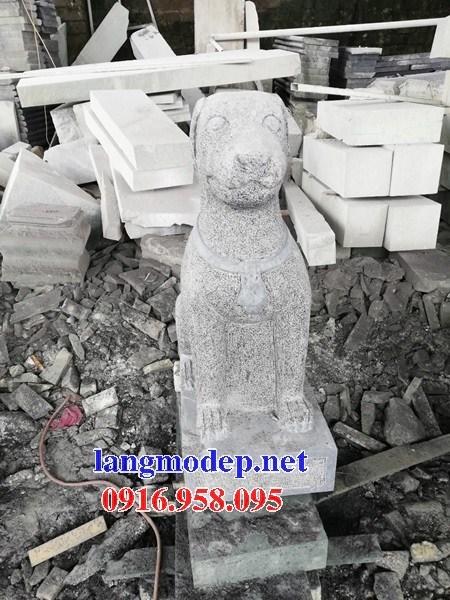 Mẫu chó tư gia từ đường đình đền chùa miếu bằng đá thi công lắp đặt tại Ninh Bình