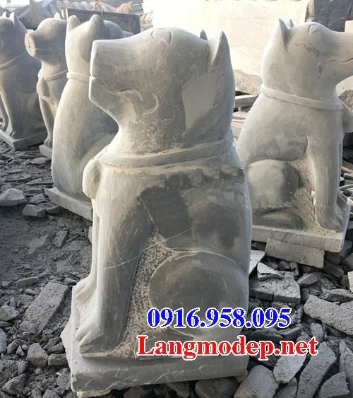Mẫu chó tư gia từ đường đình đền chùa miếu bằng đá thi công lắp đặt tại Trà Vinh