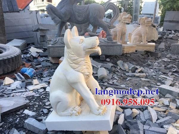 Mẫu chó tư gia từ đường đình đền chùa miếu bằng đá vàng cao cấp tại Bà Rịa Vũng Tàu