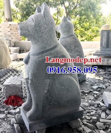 Mẫu chó tư gia từ đường đình đền chùa miếu bằng đá xanh tại Ninh Bình