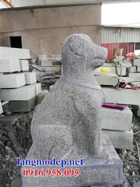 Mẫu chó tư gia từ đường đình đền chùa miếu bằng đá xanh tại Trà Vinh