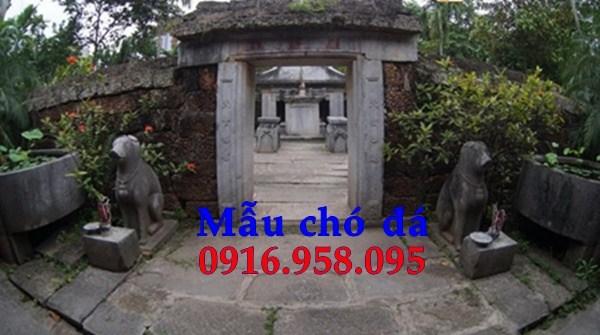 Mẫu chó từ đường đình đền chùa miếu bằng đá nguyên khối tại An Giang