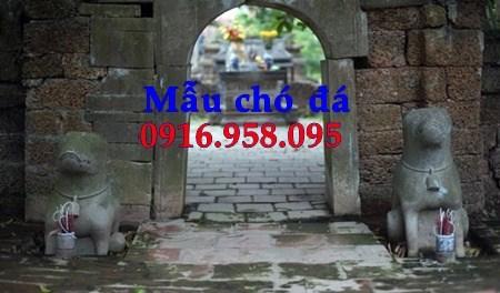 Mẫu chó từ đường đình đền chùa miếu bằng đá tự nhiên tại An Giang