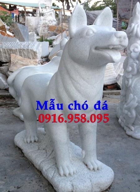 Mẫu chó từ đường đình đền chùa miếu bằng đá trắng tại An Giang