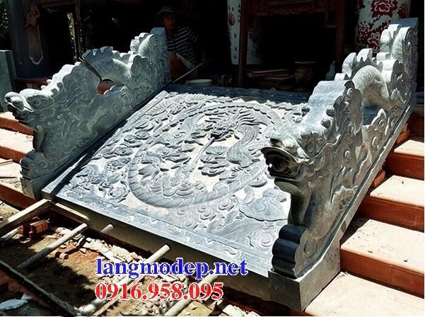 Mẫu chiếu rồng nhà thờ họ từ đường đình đền chùa miếu bằng đá chạm khắc tinh xảo tại Trà Vinh