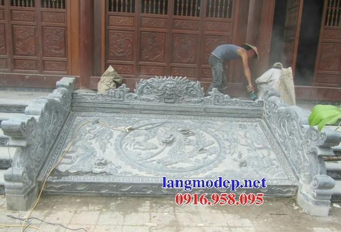 Mẫu chiếu rồng nhà thờ họ từ đường đình đền chùa miếu bằng đá nguyên khối tại Vĩnh Long