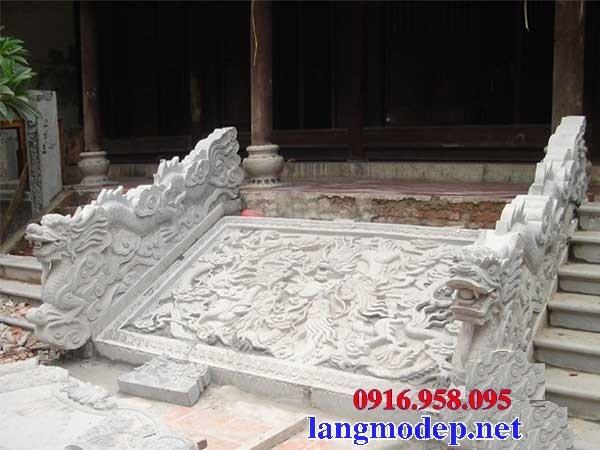 Mẫu chiếu rồng nhà thờ họ từ đường đình đền chùa miếu bằng đá tại Trà Vinh