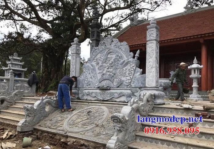 Mẫu chiếu rồng nhà thờ họ từ đường đình đền chùa miếu bằng đá thiết kế hiện đại tại Trà Vinh