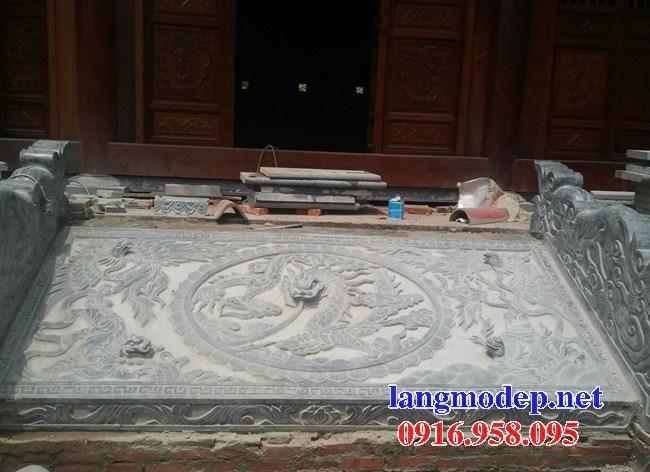 Mẫu chiếu rồng nhà thờ họ từ đường đình đền chùa miếu bằng đá xanh tại Vĩnh Long