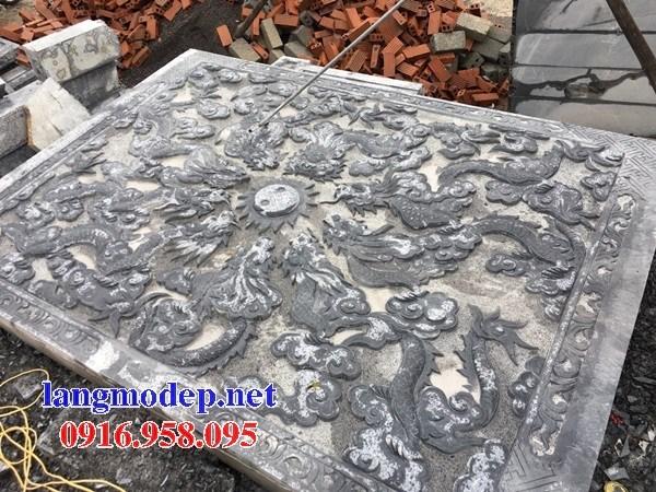 Mẫu chiếu rồng từ đường bằng đá chạm khắc tinh xảo tại Bạc Liêu