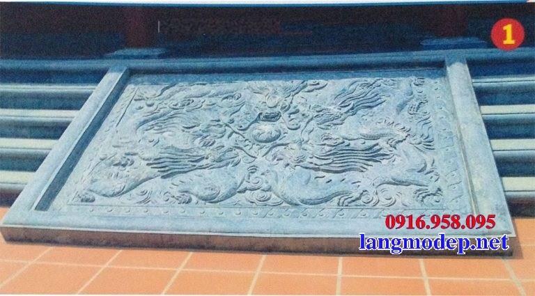 Mẫu chiếu rồng từ đường bằng đá chạm trổ tứ quý tại Bạc Liêu