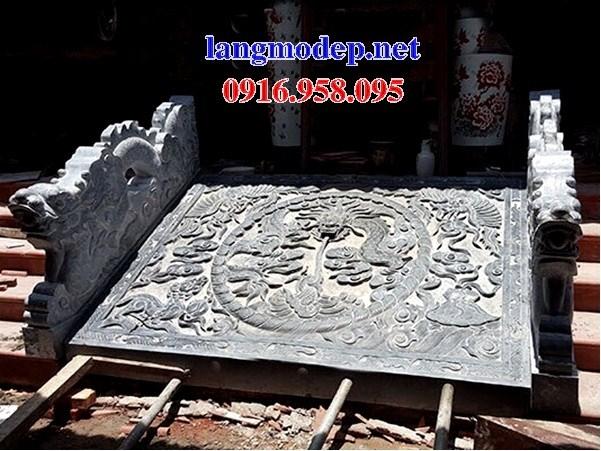 Mẫu chiếu rồng từ đường nhà thờ họ đình đền chùa miếu bằng đá chạm khắc tinh xảo tại Tiền Giang