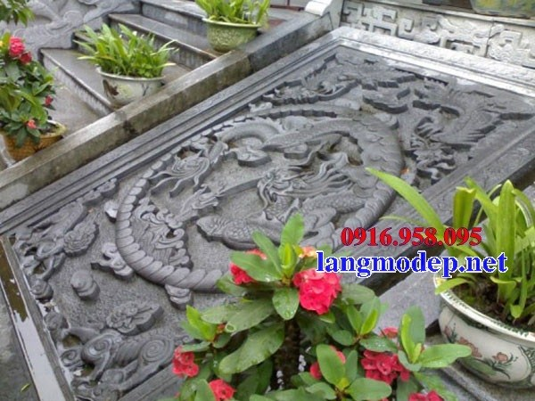 Mẫu chiếu rồng từ đường nhà thờ họ đình đền chùa miếu bằng đá mỹ nghệ tại Tiền Giang