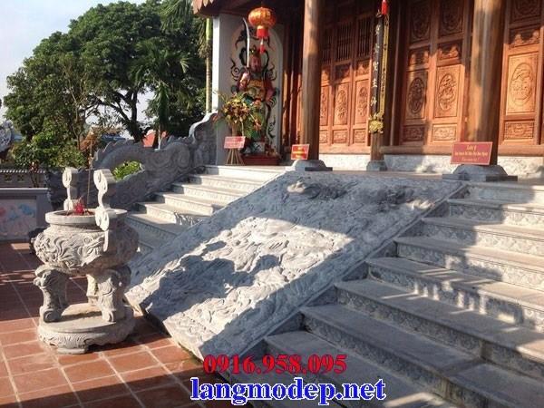 Mẫu chiếu rồng từ đường nhà thờ họ đình đền chùa miếu bằng đá tại Tiền Giang