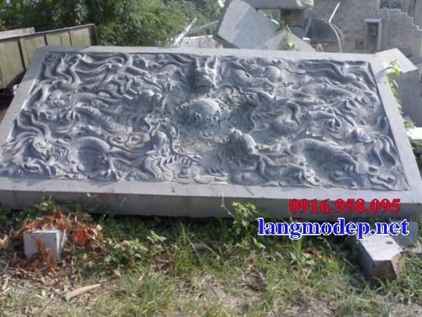 Mẫu chiếu rồng từ đường nhà thờ họ đình đền chùa miếu bằng đá thiết kế đẹp tại Tiền Giang