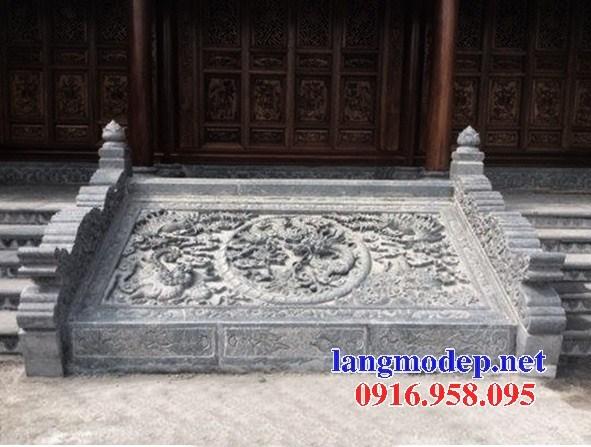 Mẫu chiếu rồng từ đường nhà thờ họ đình đền chùa miếu bằng đá thiết kế hiện đại tại Tiền Giang