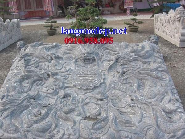 Mẫu chiếu rồng từ đường nhà thờ họ đình đền chùa miếu bằng đá thi công lắp đặt tại Tiền Giang