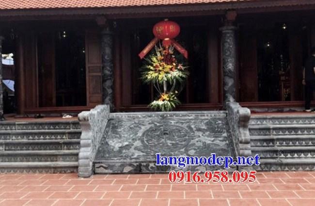 Mẫu chiếu rồng từ đường nhà thờ họ đình chùa miếu bằng đá tại Ninh Bình