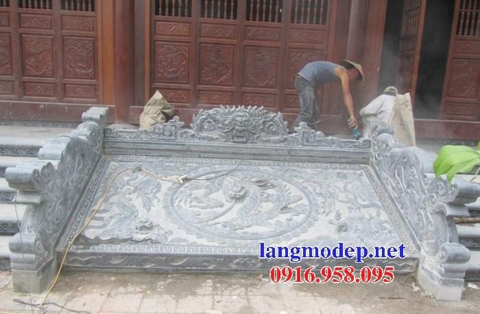 Mẫu chiếu rồng từ đường nhà thờ họ bằng đá tại Ninh Bình