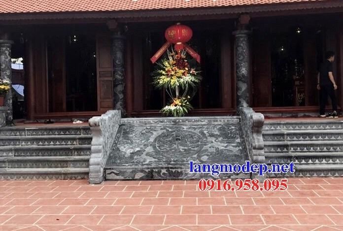 Mẫu chiếu rồng từ đường nhà thờ họ bằng đá tại Tiền Giang