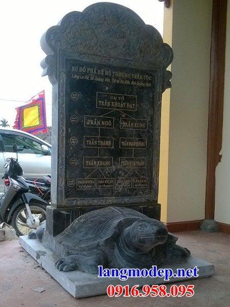 Mẫu rùa đội bia đá từ đường nhà thờ họ đình chùa miếu tại Vĩnh Long