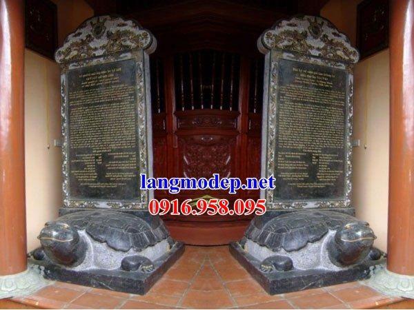 Mẫu rùa đội bia ghi công danh nhà thờ họ đình đền chùa miếu bằng đá tại Đồng Tháp