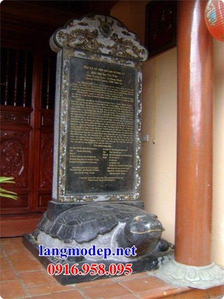 Mẫu rùa đội bia ghi công danh nhà thờ họ bằng đá tại Cần Thơ