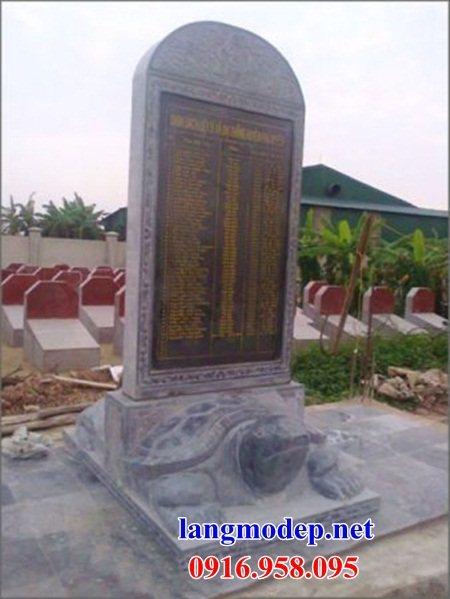 Mẫu rùa đội bia ghi công danh nhà thờ họ từ đường đình đền chùa miếu bằng đá Ninh Bình tại Đồng Tháp