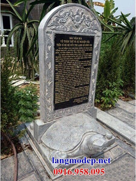 Mẫu rùa đội bia ghi công danh nhà thờ họ từ đường đình đền chùa miếu bằng đá Ninh Bình tại Cần Thơ