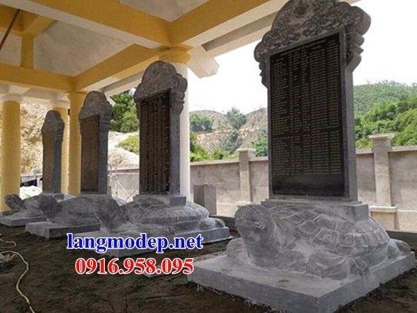 Mẫu rùa đội bia ghi công danh nhà thờ họ từ đường đình đền chùa miếu bằng đá tại Đồng Tháp