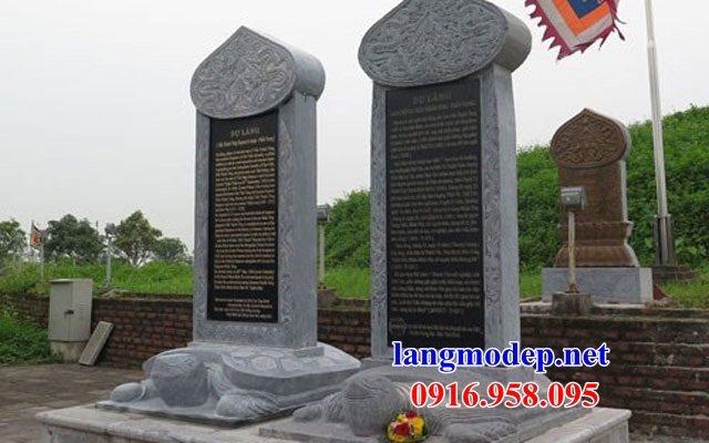 Mẫu rùa đội bia ghi công danh nhà thờ họ từ đường đình đền chùa miếu bằng đá tại Cần Thơ