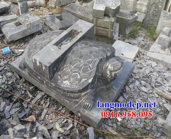 Mẫu rùa đội bia ghi công danh nhà thờ họ từ đường đình đền chùa miếu bằng đá tự nhiên tại Đồng Tháp