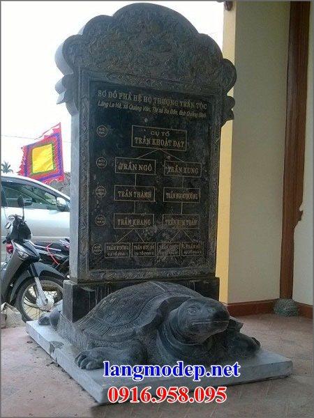 Mẫu rùa đội bia ghi danh khu di tích nhà thờ họ từ đường đình đền chùa miếu bằng đá xanh tại Sóc Trăng
