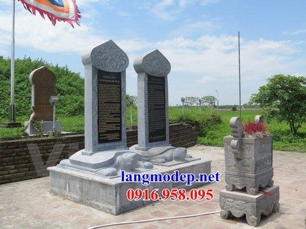 Mẫu rùa đội bia ghi danh nhà thờ họ từ đường đình đền chùa miếu bằng đá tự nhiên tại Hậu Giang