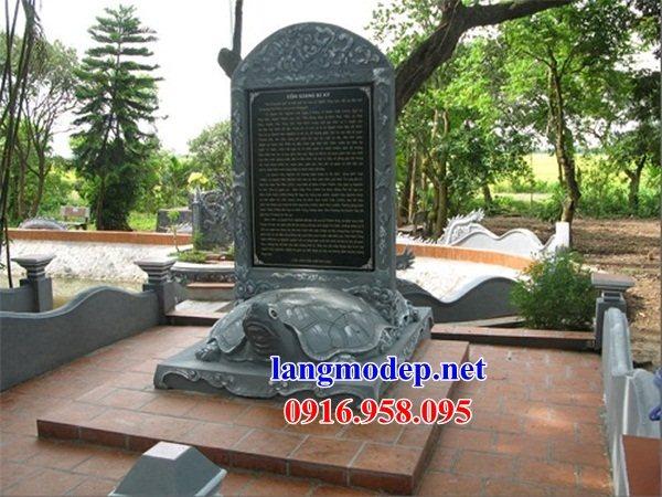 Mẫu rùa đội bia khu di tích đình chùa miếu bằng đá Ninh Bình tại Trà Vinh
