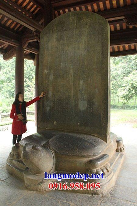 Mẫu rùa đội bia khu di tích đình chùa miếu nhà thờ họ bằng đá tự nhiên tại Tiền Giang