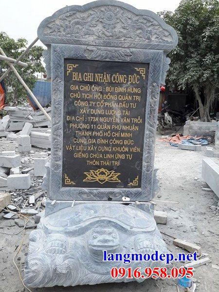 Mẫu rùa cõng bia ghi công danh nhà thờ họ từ đường đình đền chùa miếu bằng đá Ninh Bình tại An Giang