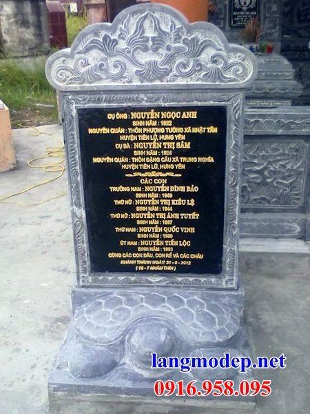 Mẫu rùa cõng bia ghi công danh nhà thờ họ từ đường đình đền chùa miếu khu lăng mộ bằng đá tại An Giang