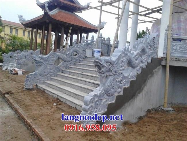 Mẫu rồng bậc thềm nhà thờ họ từ đường đình đền chùa miếu bằng đá Thanh Hóa tại Vĩnh Long