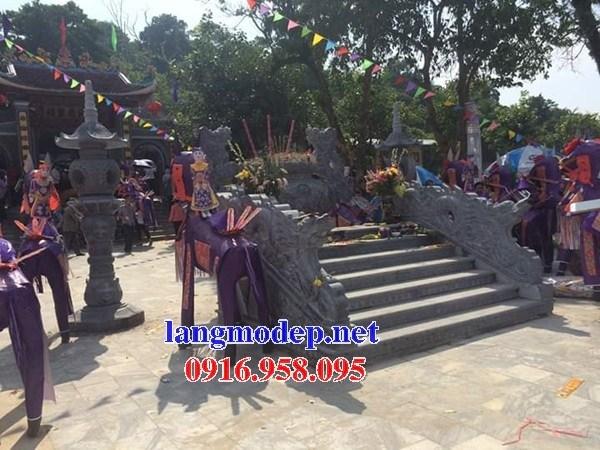 Mẫu rồng bậc thềm nhà thờ họ từ đường đình đền chùa miếu bằng đá tự nhiên tại Trà Vinh