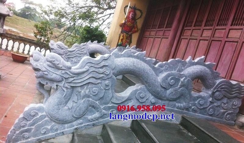 Mẫu rồng bậc thềm nhà thờ họ từ đường đình đền chùa miếu bằng đá thiết kế đẹp tại Vĩnh Long