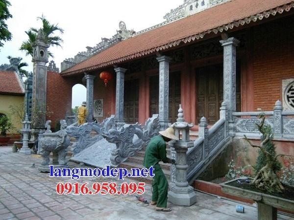 Mẫu rồng bậc thềm từ đường bằng đá Ninh Bình tại Bạc Liêu