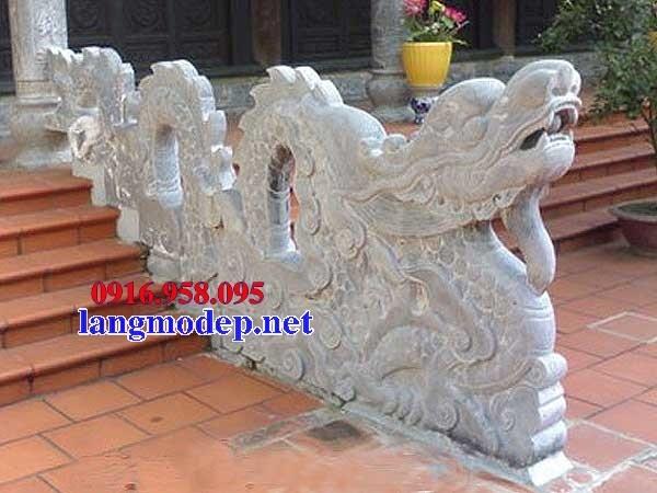 Mẫu rồng bậc thềm từ đường nhà thờ họ đình đền chùa miếu bằng đá Ninh Bình tại Tiền Giang