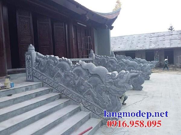 Mẫu rồng bậc thềm từ đường nhà thờ họ đình chùa miếu bằng đá thiết kế hiện đại tại Ninh Bình
