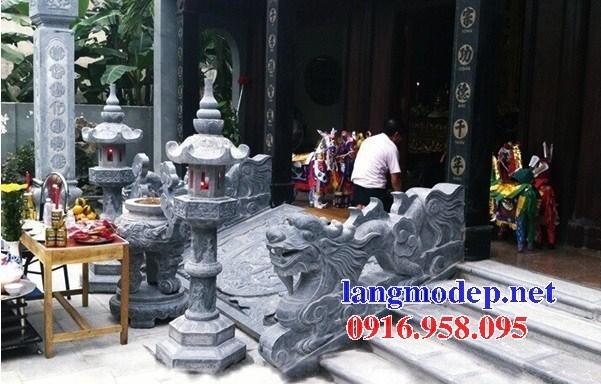 Mẫu rồng bậc thềm từ đường nhà thờ họ đình chùa miếu bằng đá thi công lắp đặt tại Ninh Bình