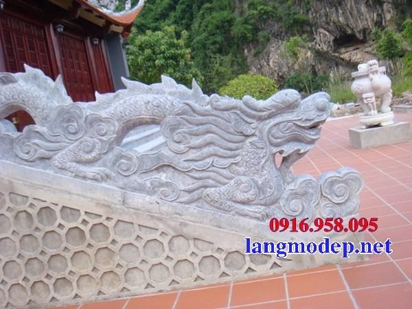 Mẫu rồng nhà thờ họ từ đường đình đền chùa miếu bằng đá mỹ nghệ tại Trà Vinh