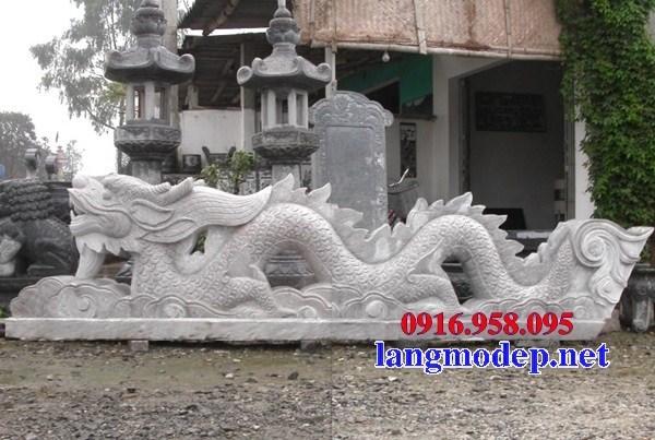 Mẫu rồng nhà thờ họ từ đường đình đền chùa miếu bằng đá trắng tại Trà Vinh