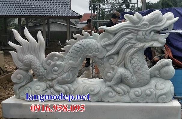 Mẫu rồng nhà thờ họ từ đường đình đền chùa miếu bằng đá trắng tự nhiên tại Vĩnh Long